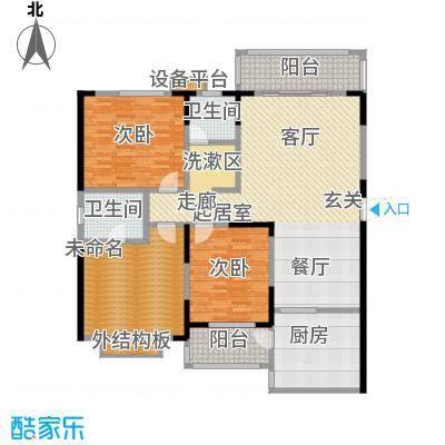 华富世家150.00㎡23号楼8楼三室两厅两位卫户型3室2厅2卫