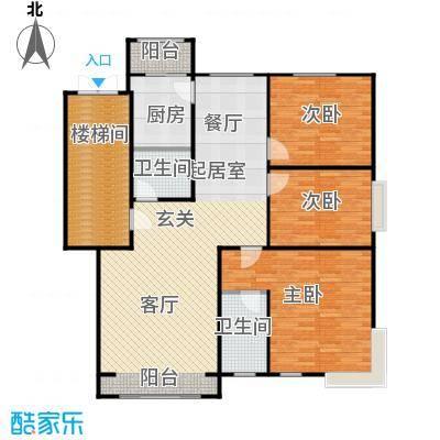 蓝调沙龙130.21㎡A06楼111号户型3室2厅2卫1厨户型