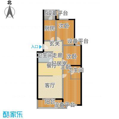 京艺天朗嘉园129.88㎡b户型