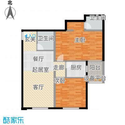 京艺天朗嘉园495.62㎡2室2厅2卫1厨1#F户型