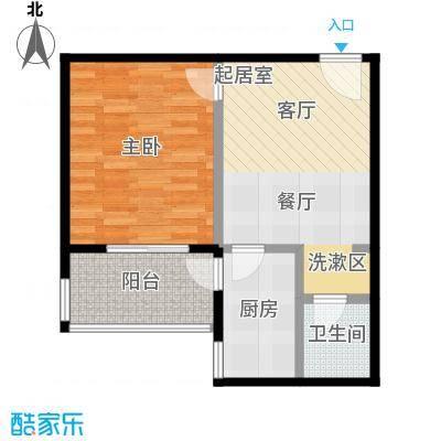 华富世家54.00㎡一室一厅一厨一卫户型1室1厅1卫