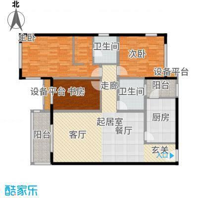 京艺天朗嘉园126.75㎡a1户型