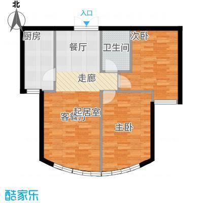 新华联运河湾86.23㎡B-2户型10室