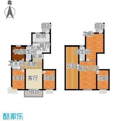 香格里拉264.00㎡香格里拉 户型图 24号楼复式五室两厅两卫 264平米户型5室2厅2卫