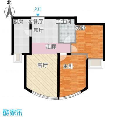 新华联运河湾88.08㎡D-2户型10室