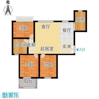 紫薇壹130.34㎡G10户型三室两厅一卫3户型3室-T