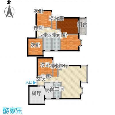 玺萌鹏苑236.58㎡四居室户型