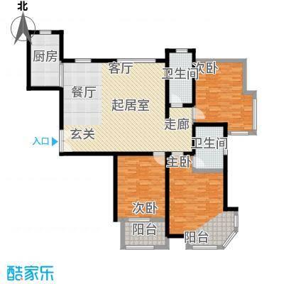 紫薇壹143.29㎡G12户型室两厅两卫户型3室2厅2卫-T