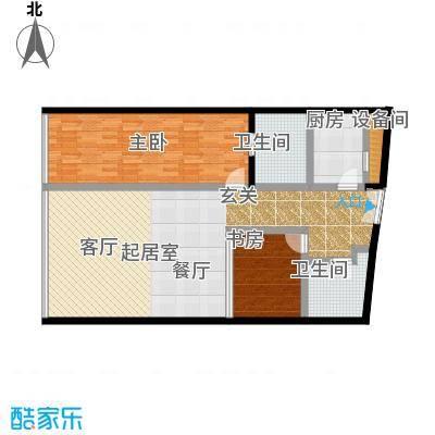 C-PARK西派国际公寓151.89㎡H户型二室二厅二卫户型