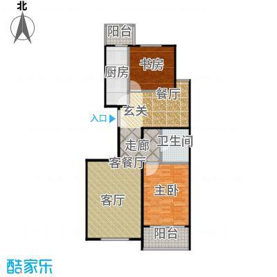 建邦枫景B5户型2室1厅1卫1厨