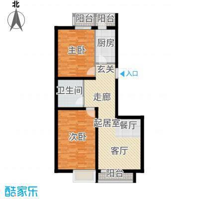 瑞雪春堂B2户型2室1卫1厨