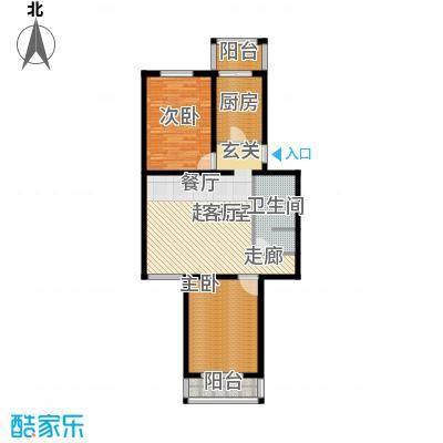 天泰新景91.05㎡2室1厅1卫户型