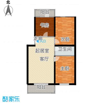 祥和精典94.36㎡两室一厅一卫户型