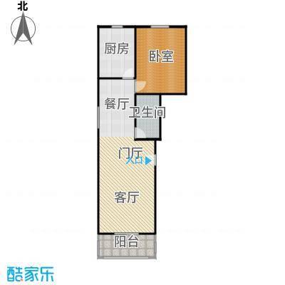 碧波园温泉家园83.71㎡1室1厅1卫户型