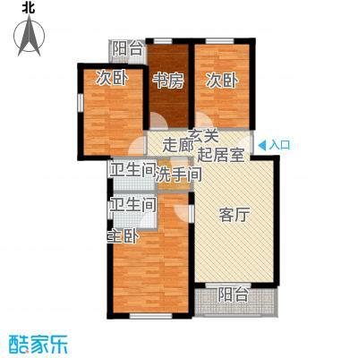 祥和精典119.20㎡三室一厅两卫户型