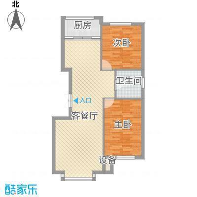 香山景园93.33㎡香山景园两室两厅一卫约93.33平米户型图户型2室2厅1卫