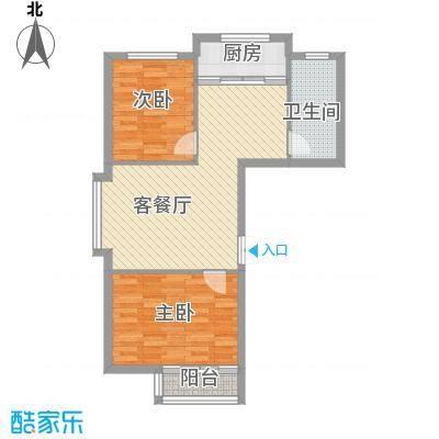香山景园83.69㎡香山景园两室两厅一卫约83.69平米户型图户型2室2厅1卫