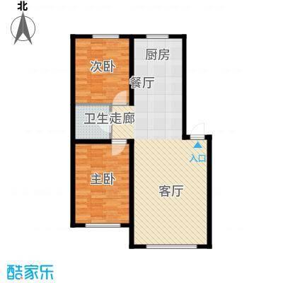 博达英郡D户型两室两厅一卫83.95-88.24平户型