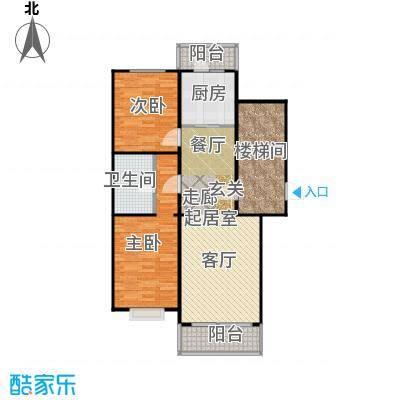 新华联锦园户型2室1卫1厨