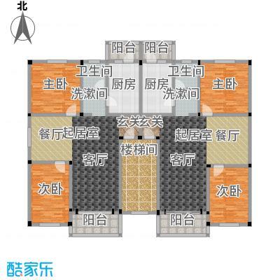 荞馨园97.30㎡两室一厅一卫户型