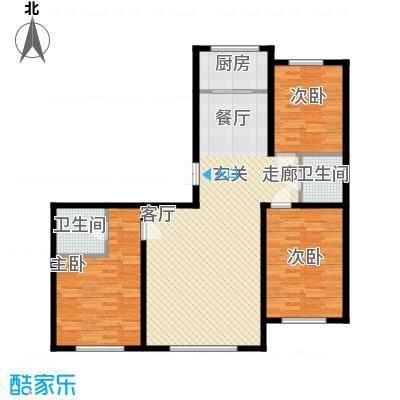 博达英郡124.00㎡三室两厅两卫124平米户型3室2厅2卫