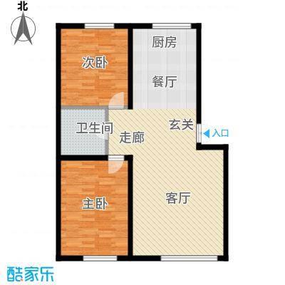 博达英郡98.00㎡两室两厅一卫98平米户型图户型2室2厅1卫