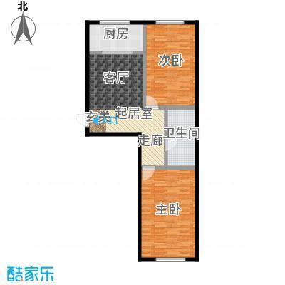 恒大世家公馆嘉寓观山两室两厅一卫面积94.16平米户型图户型2室2厅1卫