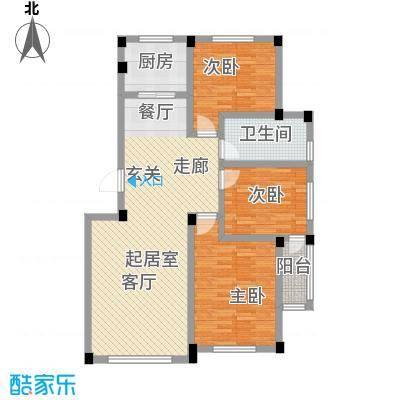 桃源山庄峰景桃源山庄峰景Q户型面积103.53-105.41三室两厅一卫户型图户型3室2厅1卫