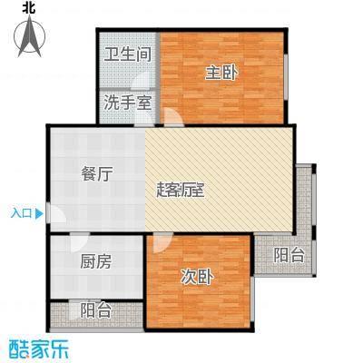 吉祥园103.60㎡二室一厅一卫户型