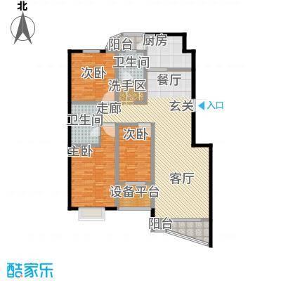 书香雅居145.00㎡三室两厅一厨两卫户型3室2厅2卫