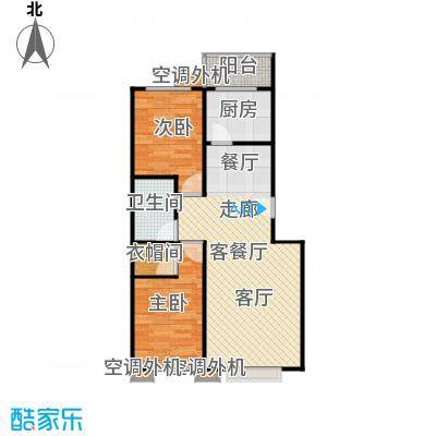世外桃园(朝通嘉园)92.17㎡两室两厅一卫户型