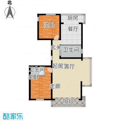 翔达・江湾御景两室两厅两卫158.43㎡户型2室2厅2卫-T