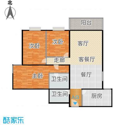新华经典丽园142.05㎡3室1厅2卫1厨户型
