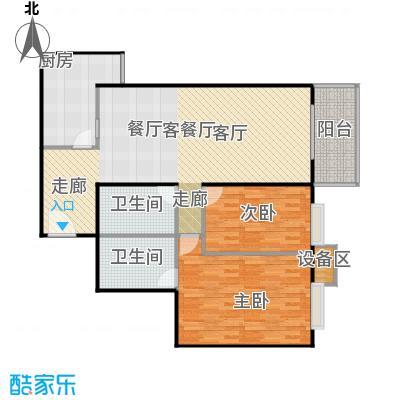 新华经典丽园130.60㎡3室2厅户型