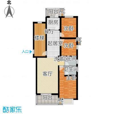 世纪龙鼎125.85㎡3室2厅2卫1厨户型