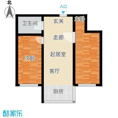 华天锦湖东郡华天・锦湖东郡两室一厅74.99平米户型图户型2室1厅