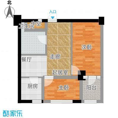 金港馨都金港馨都两室一厅一卫54平米户型图户型2室1厅1卫