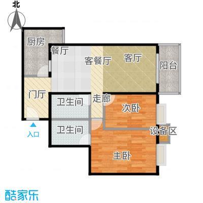 新华经典丽园55.78㎡1室1厅户型