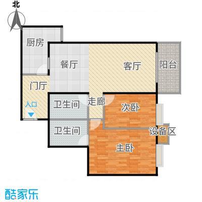 新华经典丽园97.14㎡2室1厅户型