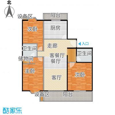 新华经典丽园148.57㎡3室2厅户型