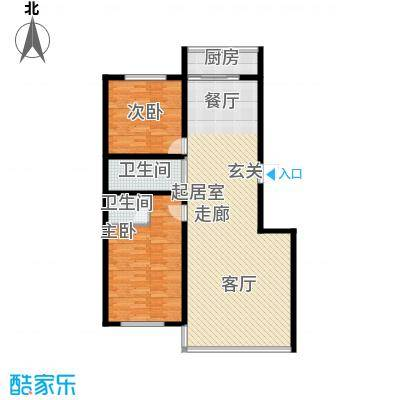 华天锦湖东郡华天・锦湖东郡两室两厅两卫116.50平米户型户型图户型2室2厅2卫