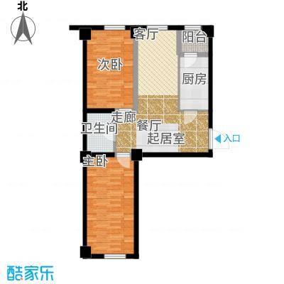 金港馨都金港馨都两室一厅一卫72平米户型图户型2室1厅1卫