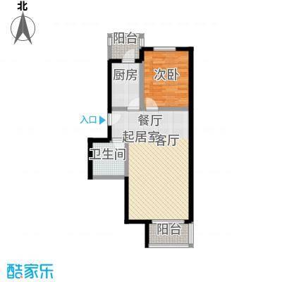 世纪龙鼎66.01㎡1室1厅1卫1厨户型