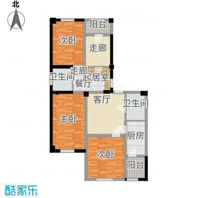 金港馨都金港馨都三室两厅两卫108平米户型图户型2室2厅2卫