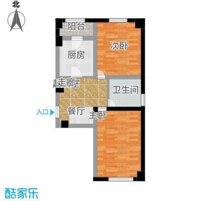 金港馨都金港馨都两室一厅一卫63平米户型图户型1室1厅1卫