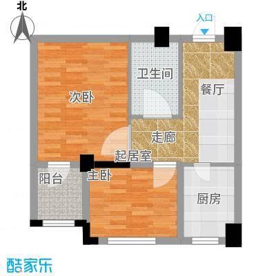 金港馨都金港馨都两室一厅一卫53.6平米户型图户型2室1厅1卫