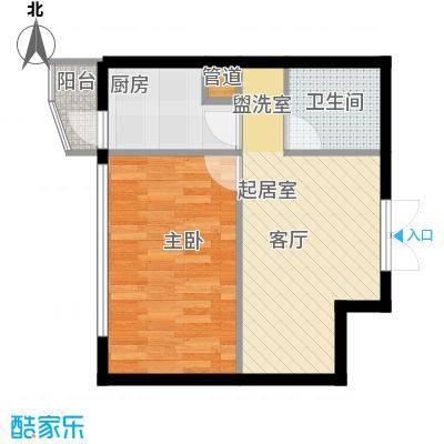鑫隆帝豪57.78㎡鑫隆帝豪面积57.78平米一室一厅一卫户型图户型1室1厅1卫