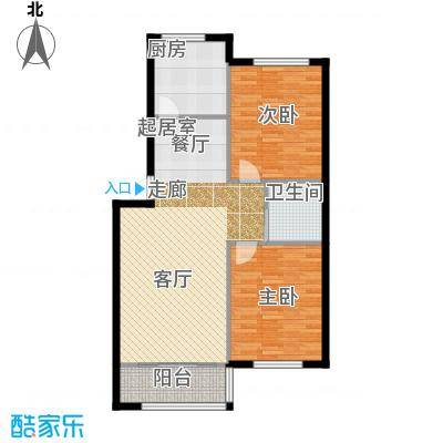 望云山景101.64㎡望云山景两室两厅一卫一厨101.64平米户型2室2厅1卫