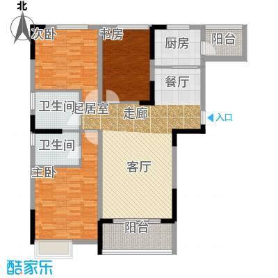 望云山景户型3室2卫1厨