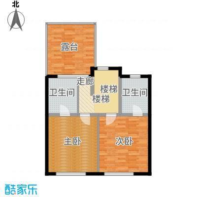 金地・格林小镇6F区F4上层平面图户型
